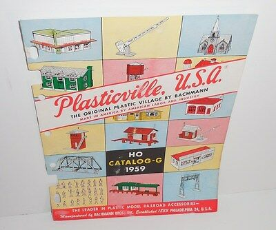 1959 Bachmann Plasticville Usa Ho Catalog - G 8 Pages Neat!!!