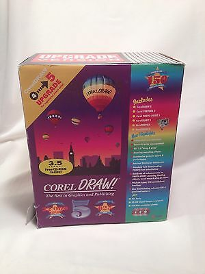 """Corel Draw 5 Upgrade From 4 3.5"""" Floppy Graphics Publishing Software 90s"""