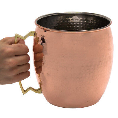 Old Dutch International Giant 128oz Hammered Solid Copper Moscow Mule Mug Handle