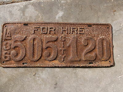 Louisiana 1936 For Hire City License Plate  #  656 476