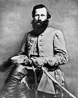 US Confederate General JAMES JEB STUART Glossy 8x10 Photo Civil War Print Poster