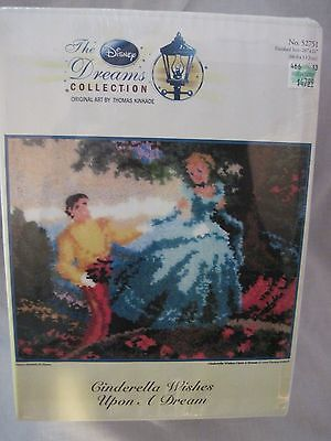 The Disney Kinkade Collection-Cinderella Wishes Upon A Dream Latch Hook Rug Kit