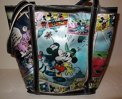 Disney Sweethearts Minnie & Mickey Mouse Vinyl Comic Strip Purse Tote Bag