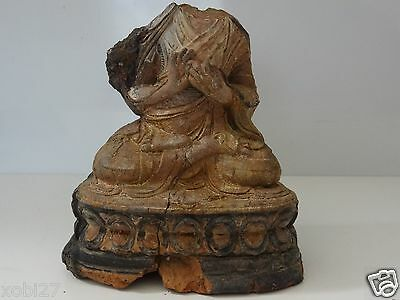 Antique  Mongolian Buddhist Hand Made Clay Statue