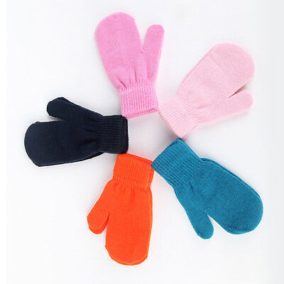 Baby Knitting Warm Soft Gloves Kids Boys Girls Candy Colors Mittens Unisex
