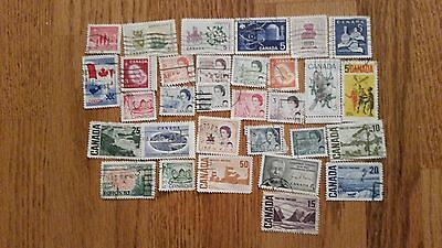 Lot of 1960's vintage Canada stamps