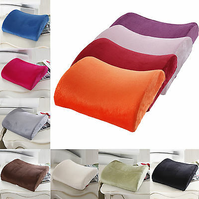 Back Support Cushion Waist Pillow Memory Foam Lumbar Home Chair Car Office Seat