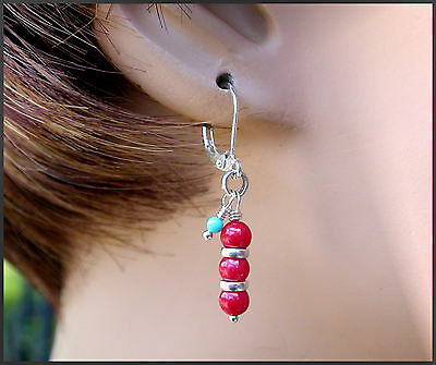 *PI*AAA RED CORAL Sleeping Beauty TURQUOISE  petite SS ROLO .925! SUNDANCE