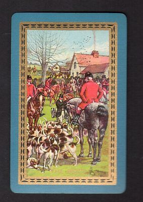 Vintage Swap/Playing Card - Titled - The Meet (LINEN)