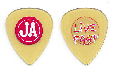 Pearl Jam Jeff Ament Live Fast Clear Yellow Guitar Pick - 2010 Backspacer Tour