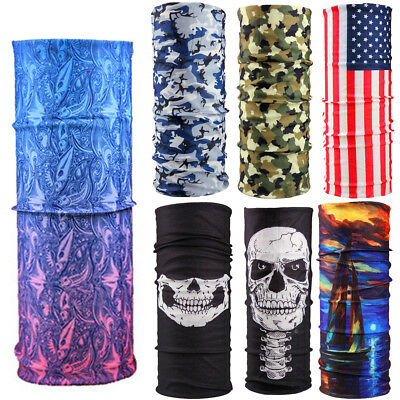Head/Face/Mask/Neck Warmer Biker Scarf Tube Bandana Snood Hood Beanie Cap Wraps