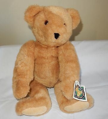"""1993 Vermont Teddy Bear 20"""" Jointed Sandy Color with Tags"""