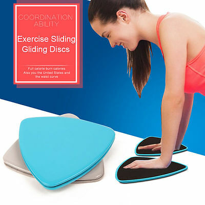 Exercise Sliding Gliding Discs Fitness Core Sliders Sports Workout 4 Colors