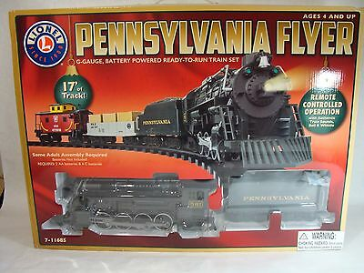 Lionel Pennsylvania Flyer R/c Train Set Holiday/christmas Edition G-Scale