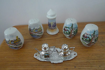 Salt and Pepper Shakers 7 of them,Australian themed Towns.