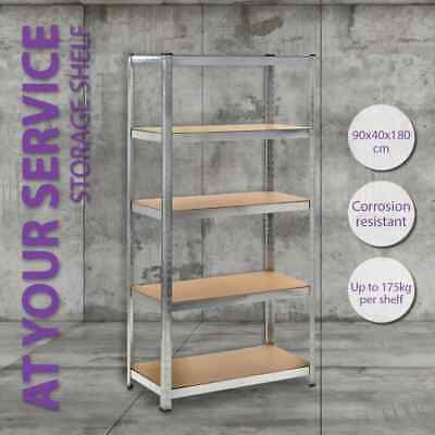 Silver/Blue 1/2 Garage Shelving Storage Shelves 90x180cm Racking Stand Warehouse