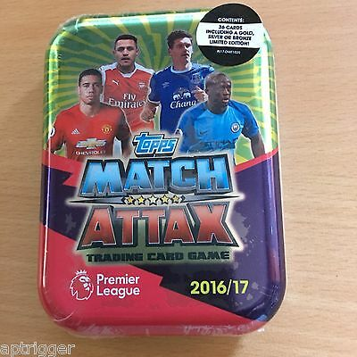 2016 / 2017 EPL Match Attax Mini Collector Tin 35 Cards + Gold, Silver or Bronze