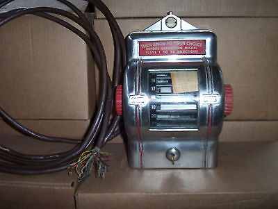 Packard Butler, diner style Wallbox, 1940's (Suit Wurlitzer 1015 & others)