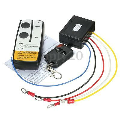 12V 315MHz 50FT Winch Wireless Remote Control Controller For Jeep Truck ATV US
