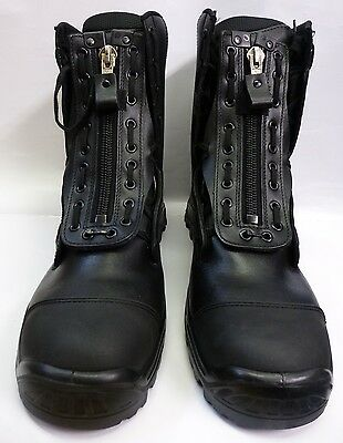 HAIX Airpower X1 Black Steel Toe Leather Rescue, Forest Fire Boots Size 13.5 xw