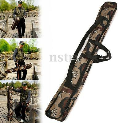4 Layer Fishing Rod Case Bag Carry Cover Storage Organizer Tackle Tools Holder -