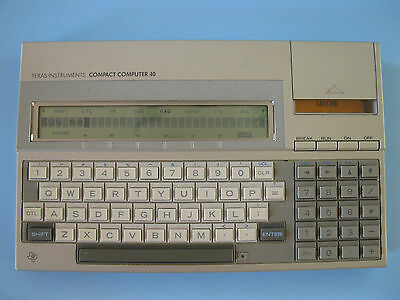 Texas Instruments Compact Computer 40--TRW with Case-Machining Consultant