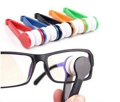 Mini Sun Glasses Cleaner Eyeglass Microfiber Spectacles Brush Cleaning Tool New