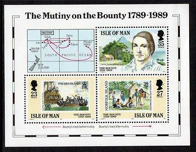Isle of Man MNH 1989 The 100th Anniversary of the Mutiny on the Bounty M/S