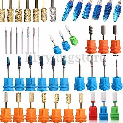 Pro Ceramic Carbide Nail Drill Bit Tool Rotary File Manicure Pedicure 3/32 Shank