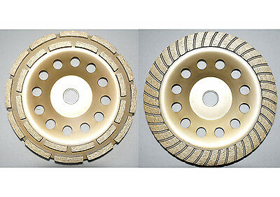 "2* 7"" 180mm diamond grinding disc grinder cup wheel stone marble concrete"