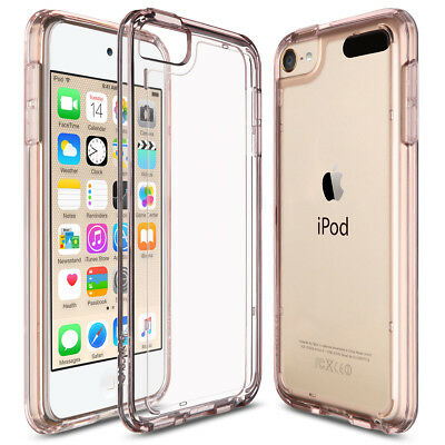 For iPod Touch 5/th Gen Crystal Shockproof Bumper Hard Cover Case  Rose Gold