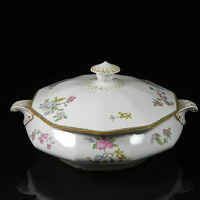 """Booths Covered Footed Vegetable Server Bowl Silicon China 10.5"""""""