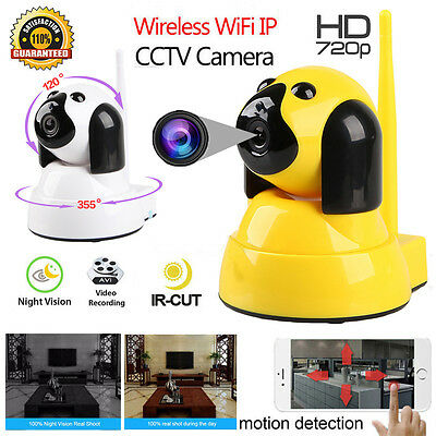 Wireless WIFI HD 720P Pan Tilt Network Monitor Security IP Camera Night Vision