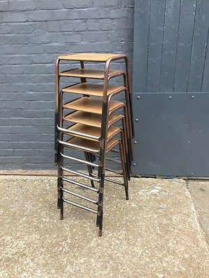 Quantity of Vintage Industrial Metal Stacking Stools - bar/restaurant (20C938)