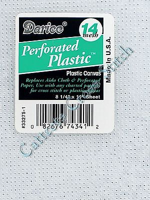 Darice Plastic Canvas 14 Count --> CLEAR<-- Cross Stitch Needlepoint