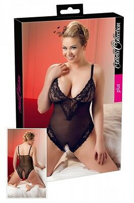 Cottelli Collection Powernet Body ouvert offen Gr. 3XL schwarz |56