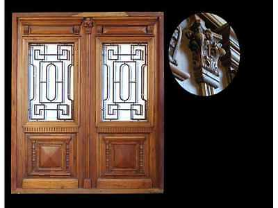 Grand Antique Double Entry Door #A1364