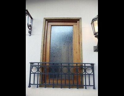 Window Panel with Etched And Hand Carved Glass #4684