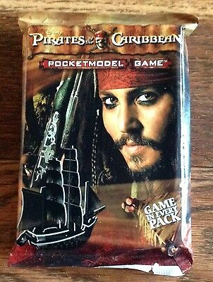 Pirates Of The Caribbean Pocket Model Game  Booster Pack By Wizkids (Rare).