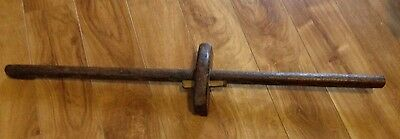 Antique Handmade Primitive Wooden Scribe Double ended Collectible