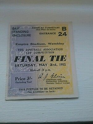 Newcastle United v Arsenal FA Cup Final Ticket 3/5/1952 NR MINT CONDITION.