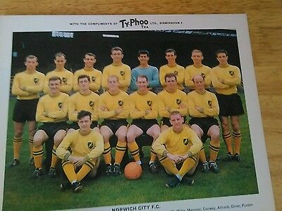 Norwich City  SERIES 1 RARE TY-PHOO TEA FOOTBALL TEAM CARD MINT CONDITION