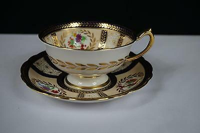 Vintage Paragon China 8902 Queen Mary Artist Signed Cup & Saucer Set