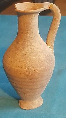 Roman Pottery Jug Dates From The 1st-3rd Century AD fully intact