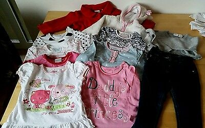 large bundle of baby girl clothes size 12 -18m