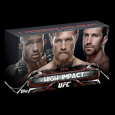 Topps High Impact UFC Sealed Box 1 AUTOGRAPH PER Conor McGregor Ronda Rousey