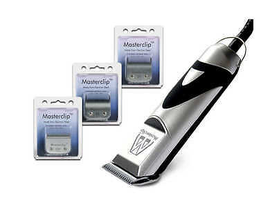 New Masterclip Ultimate Dog Clippers Set Trimmer with 3 German Steel Blades