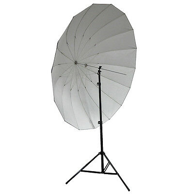 "Neewer 72"" Black / Silver Reflective Parabolic Umbrella Studio Pro 16-Rib +Bag"