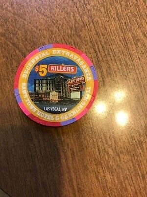 The Killers $5 Poker Chip Sams Town  No Reserve, Free Shipping!