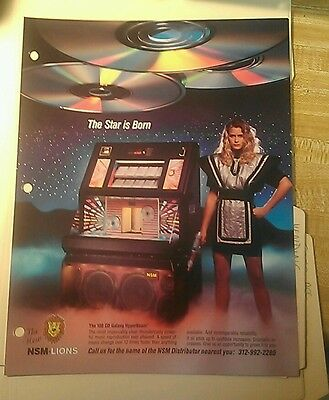 Nsm Galaxy Cd Rare Cd Jukebox Flyer